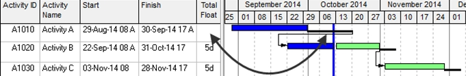 formatting total bar float in p6